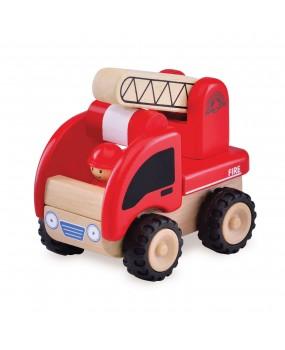 Wonderworld Houten mini brandweerwagen