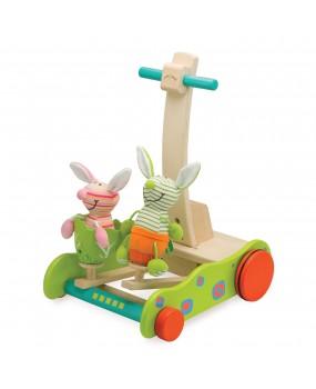 Wonderworld Loopwagen konijnen