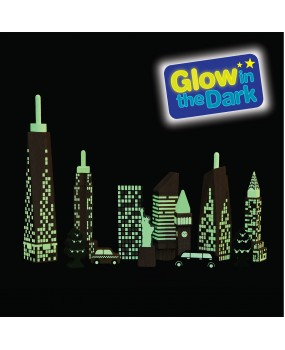 Wonderworld Speelblokken Glow in the dark Skyline