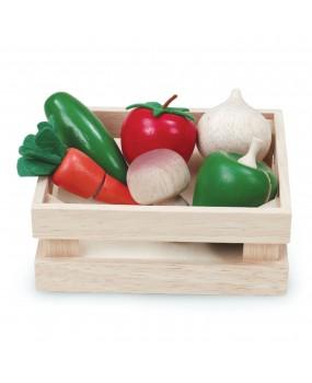Wonderworld houten kistje met snij groente