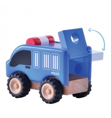 Wonderworld houten mini politiewagen